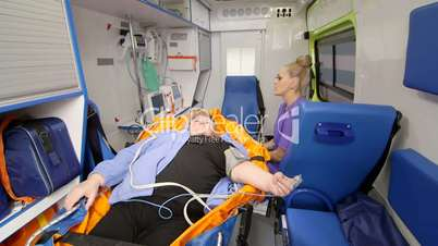 Provide basic emergency medical care and transportation for patient in ambulance