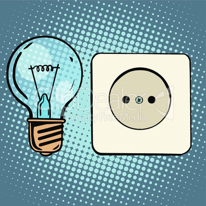 Electricity light bulb and socket