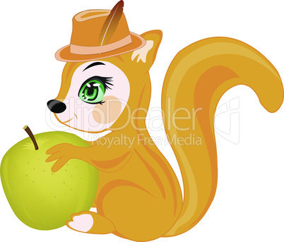 squirrel with apple.eps