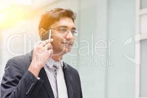 Asian Indian businessman on the phone