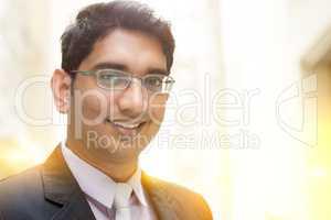 Asian Indian businessman smiling