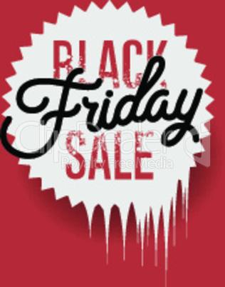 Black Friday sale inscription design template. Black Friday banner, vector illustration.