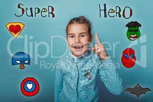 Girl thumbs up smile lifted insight super hero super power at th