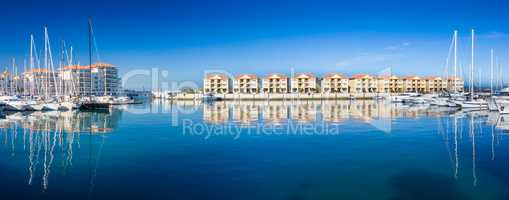 Panorama of Queensway Quay Marina, Gibraltar