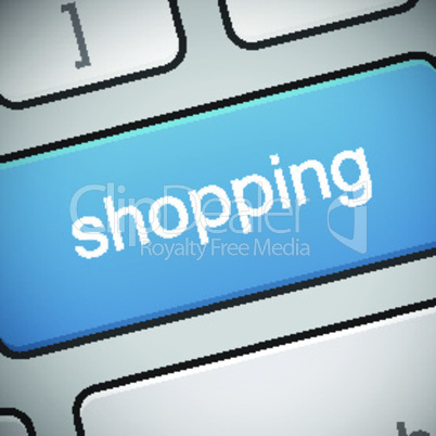 Cyber Monday button on keyboard, online shopping and marketing concept, vector illustration.