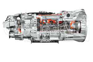 heavy truck transmission isolated