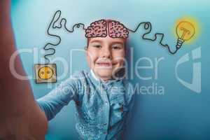 Teenage girl is photographed smiling charging cord plug wire ign