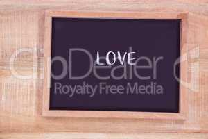 Chalkboard with love text
