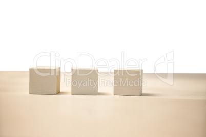 Row of blocks on table