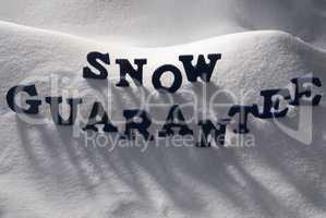 Blue Word Snow Guarantee