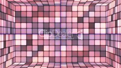 Broadcast Twinkling Hi-Tech Cubes Room, Brown Purple, Abstract, Loopable, HD