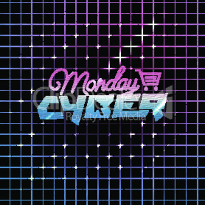 Cyber Monday, online shopping and marketing concept, vector illustration.