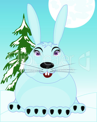 hare on snow.eps