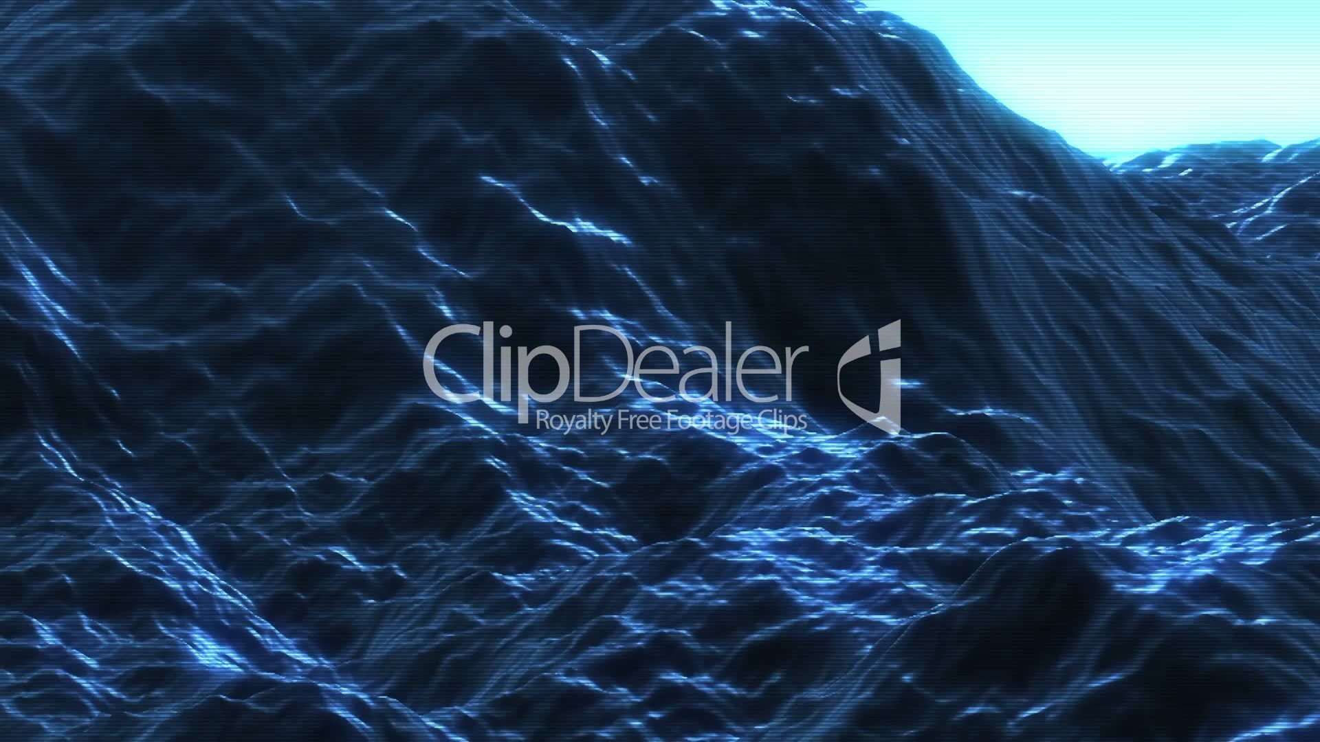 Ocean Waves Hologram: Royalty-free video and stock footage
