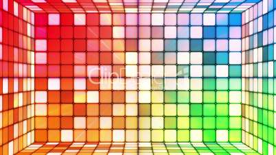 Broadcast Twinkling Hi-Tech Cubes Room, Multi Color, Abstract, Loopable, HD