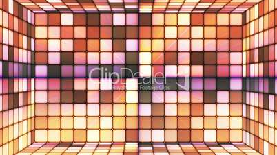 Broadcast Twinkling Hi-Tech Cubes Room, Brown Orange, Abstract, Loopable, HD