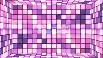 Broadcast Twinkling Hi-Tech Cubes Room, Purple Violet, Abstract, Loopable, HD
