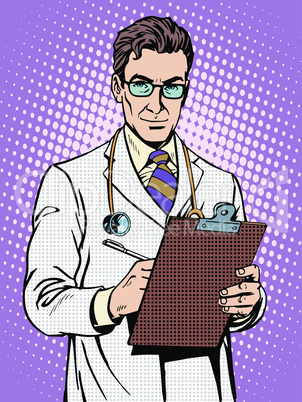 Doctor physician with stethoscope