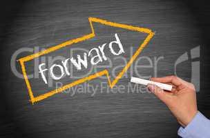 Forward - arrow with text