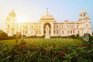 Landmark building Victoria Memorial in India