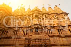 Ancient sandstone made Jaisalmer fort