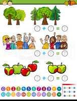 mathematical algebra task for kids