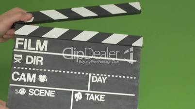 Chalkboard film slate greenscreen