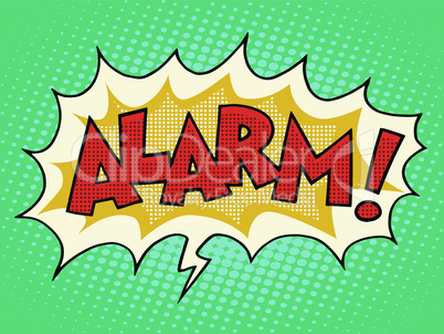 Alarm comic text bubble