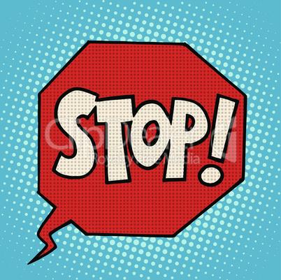 stop sign warning symbol