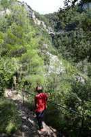 Schlucht zwischen Labin und Rabac, Kroatien