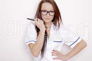 Confident professional doctor