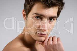 Portrait of young handsome men