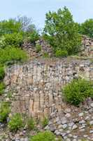 Interesting columnar basalt