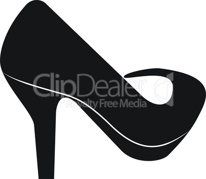 Silhouette of the women's shoes