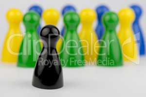 Conceptual game pawns