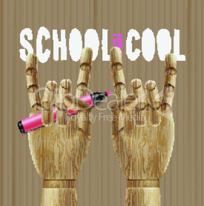 School is cool, vector illustration.