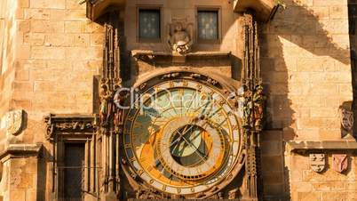 Ancient Astronomical Clock. Time Lapse