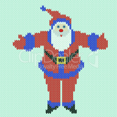 Santa Claus with outstretched arms