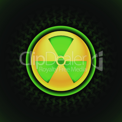 sign of radiation green