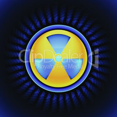 sign of radiation blue