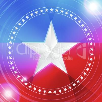white star in a circular pattern