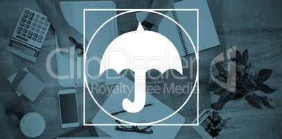 Composite image of umbrella