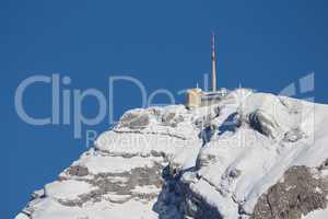 Summit station on the Mt Saentis