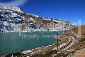 Turquoise Lake Blanc, Bernina Pass