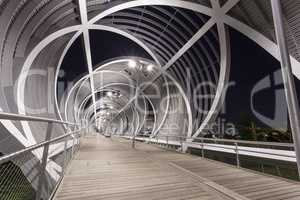 Modern bridge in madrid