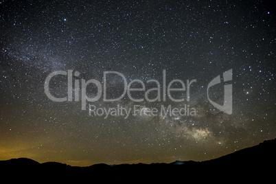Night scenery of the Milky Way