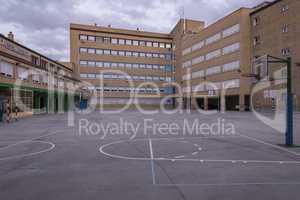schoolyard without children