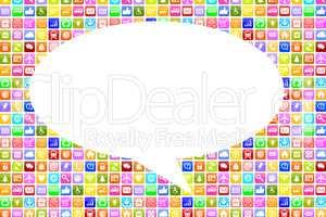 Application Apps App soziale Medien Kommunikation auf Handy oder