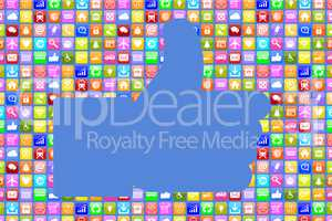Application Apps App like soziale Medien für Handy oder Smartph
