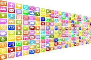 Application Apps App Icon Icons Set für Handy oder Smartphone